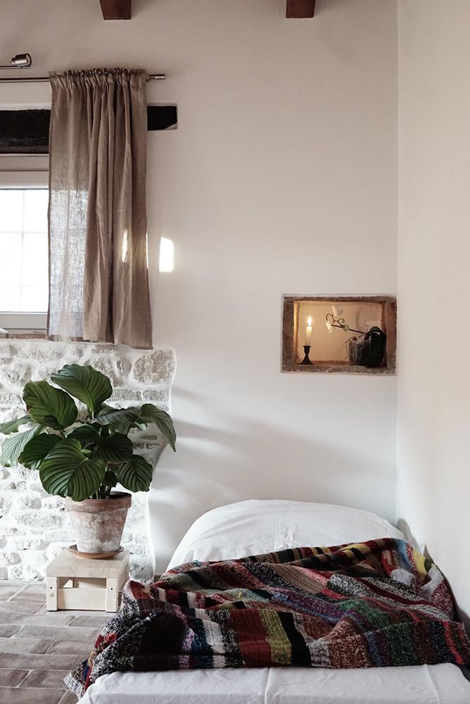 Esperienze al casale yoga: la stanza degli ospiti