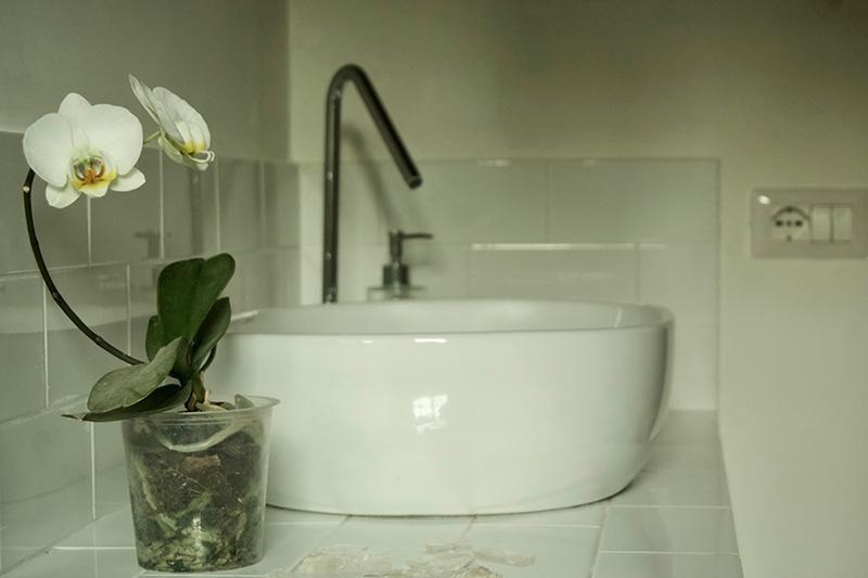 Esperienze al casale: il bagno degli ospiti