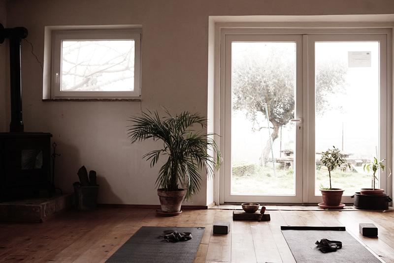 Esperienze al casale: la sala yoga
